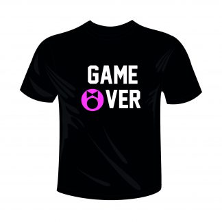 0003 Game Over Zwart